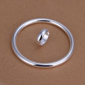 Wholesale Romantic Silver Round Jewelry Set TGSPJS095