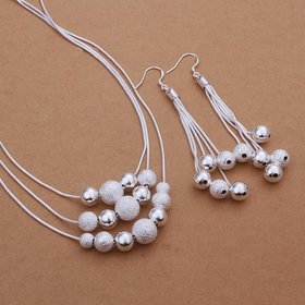 Wholesale Trendy Silver Ball Jewelry Set TGSPJS140