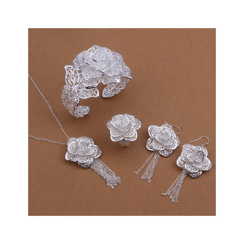 Wholesale Trendy Silver Plant Jewelry Set TGSPJS255