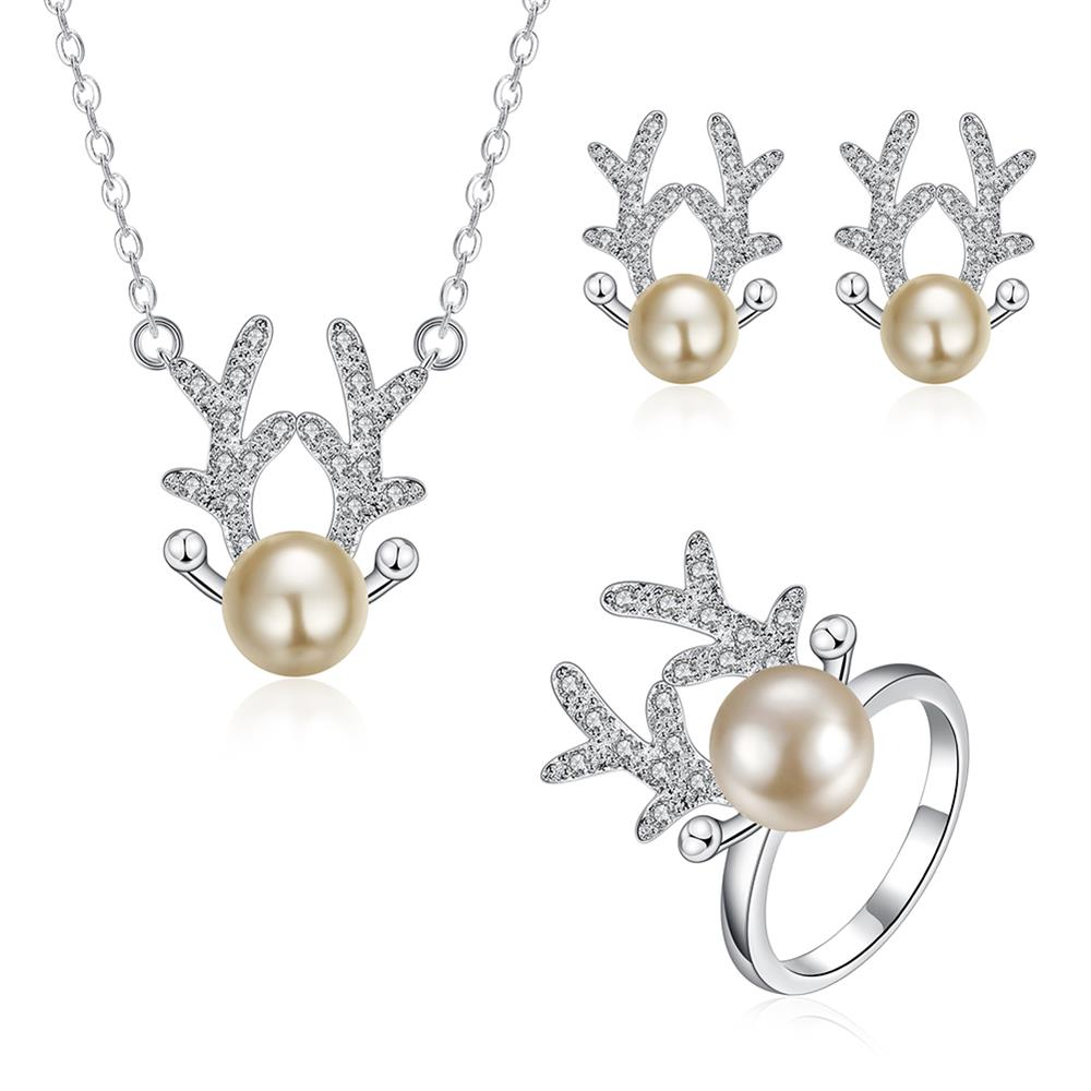 Wholesale Trendy Silver Animal Jewelry Set TGSPJS513