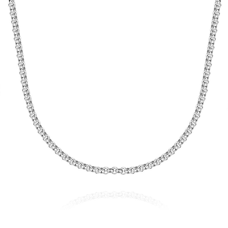 Wholesale Trendy Rhodium Round Chain Nceklace TGCN001