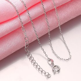Wholesale Romantic Platinum Geometric Chain Nceklace TGCN011