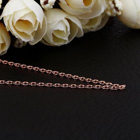 Wholesale Trendy Rose Gold Geometric Chain Nceklace TGCN014