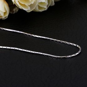 Wholesale Trendy Platinum Geometric Chain Nceklace TGCN016