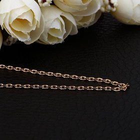 Wholesale Trendy 24K Gold Geometric Chain Nceklace TGCN018