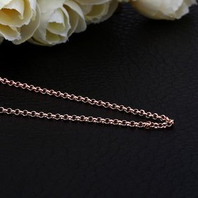 Wholesale Trendy Rose Gold Geometric Chain Nceklace TGCN020
