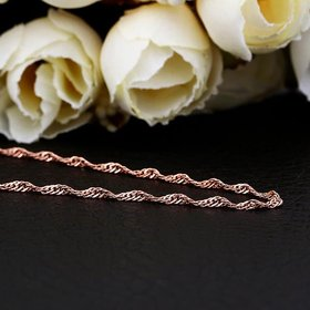 Wholesale Trendy Rose Gold Geometric Chain Nceklace TGCN023