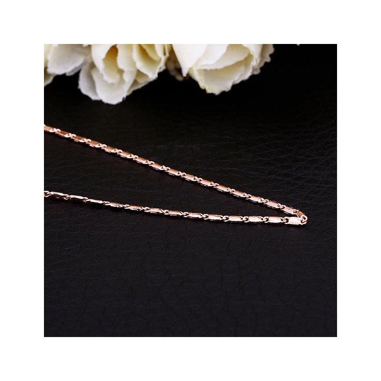 Wholesale Classic Rose Gold Geometric Chain Nceklace TGCN025
