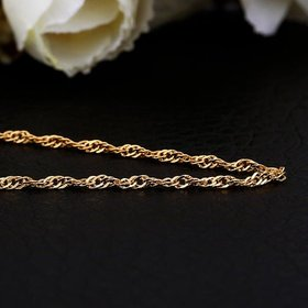 Wholesale Trendy 24K Gold Geometric Chain Nceklace TGCN031