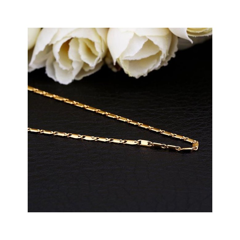 Wholesale Classic 24K Gold Geometric Chain Nceklace TGCN032