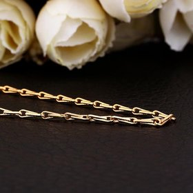 Wholesale Classic 24K Gold Geometric Chain Nceklace TGCN033