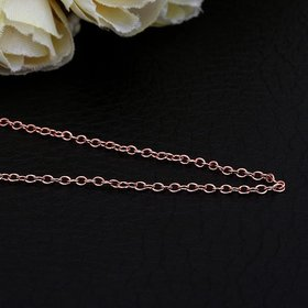 Wholesale Trendy Rose Gold Geometric Chain Nceklace TGCN035