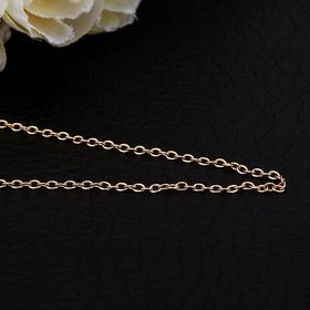 Wholesale Trendy 24K Gold Geometric Chain Nceklace TGCN038