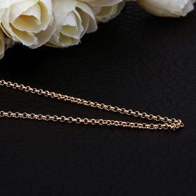 Wholesale Trendy 24K Gold Geometric Chain Nceklace TGCN039