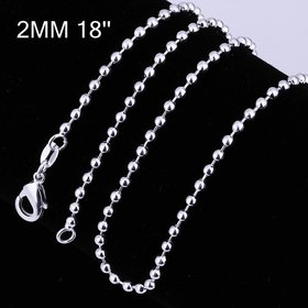 Wholesale Trendy Silver Ball Chain Nceklace TGCN045