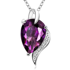 Wholesale Classic rhodium plated Geometric CZ Necklace TGCZN012