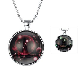 Wholesale Trendy Constellation Scorpio Luminous Necklace TGLP022