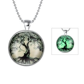 Wholesale Trendy PlantTree of Life Luminous Necklace TGLP033