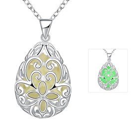 Wholesale Romantic Silver Water Drop Necklace TGLP042