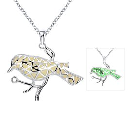 Wholesale Trendy Silver Animal Necklace TGLP047
