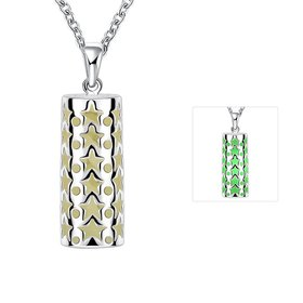 Wholesale Trendy Silver Geometric Necklace TGLP070