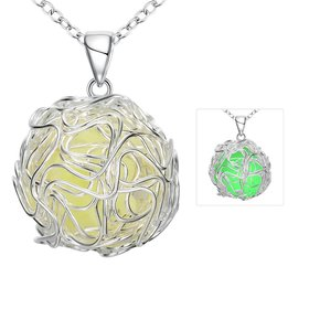 Wholesale Trendy Silver Ball Necklace TGLP136