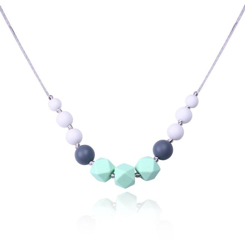 Wholesale Bohemia Geometric Silicone Multicolor Necklace TGSN007