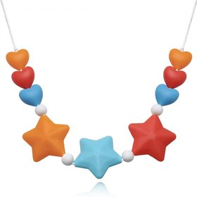 Wholesale Bohemia Colorful Star Silicone Necklace TGSN059