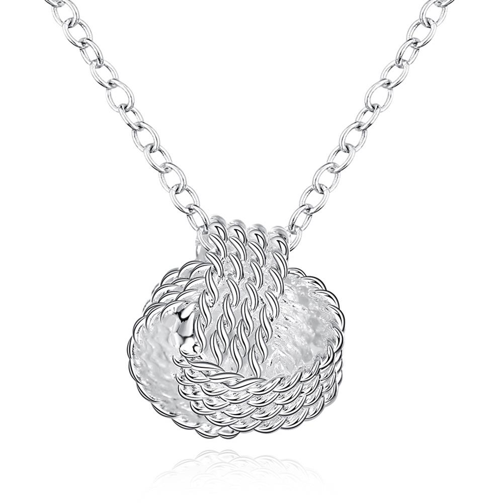 Wholesale Trendy Silver Ball Necklace TGSPN473