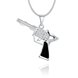 Wholesale Trendy Silver Gun Crystal Necklace TGSPN404