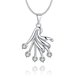 Wholesale Trendy Silver Fan Crystal Necklace TGSPN414