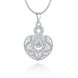 Wholesale Silver Heart Crystal Necklace TGSPN444