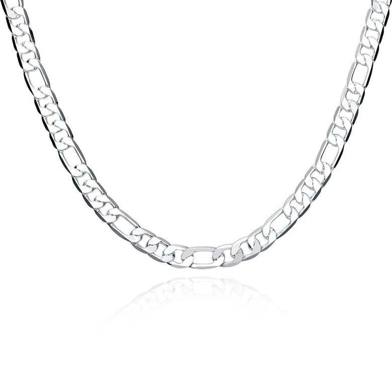 Wholesale Classic Silver Round Necklace TGSPN510