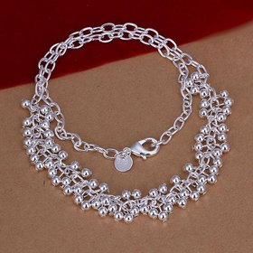 Wholesale Romantic Silver Ball Necklace TGSPN606