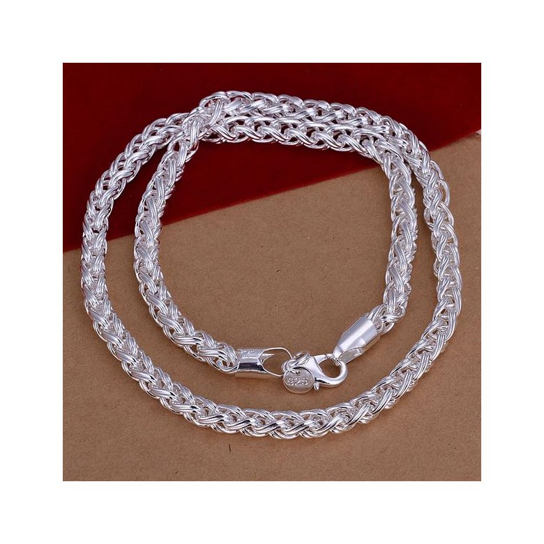 Wholesale Romantic Silver Face Necklace TGSPN624