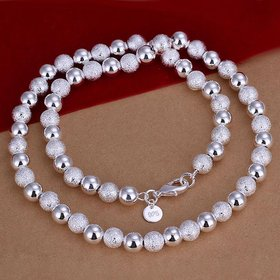 Wholesale Classic Silver Ball Necklace TGSPN627
