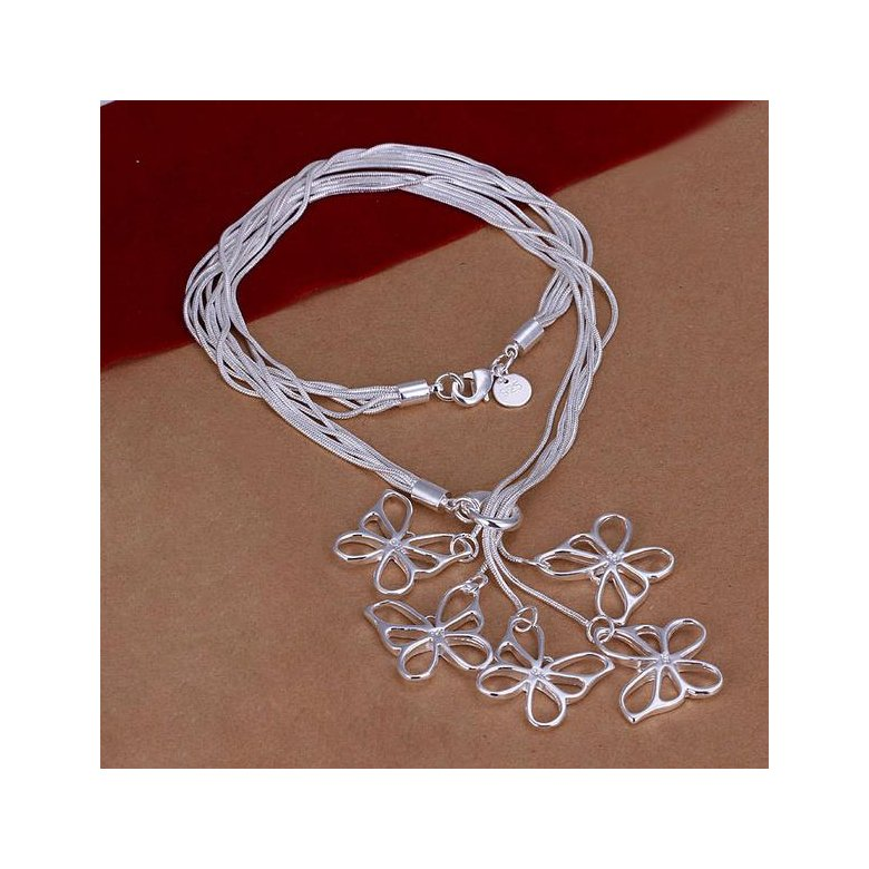 Wholesale Romantic Silver Animal Necklace TGSPN641
