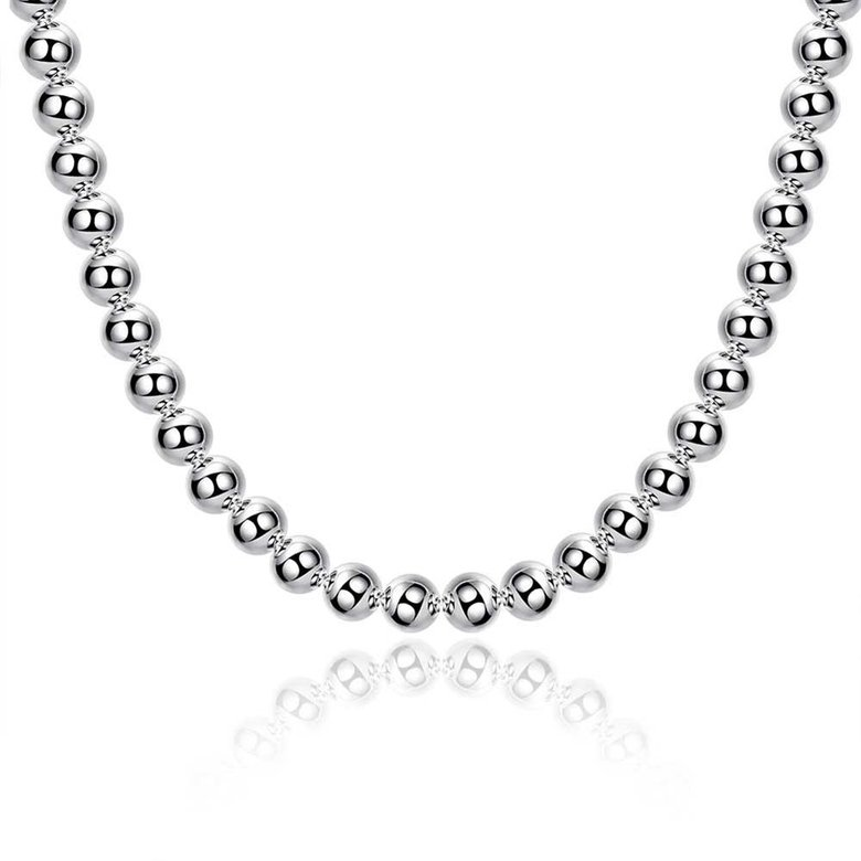 Wholesale Romantic Silver Ball Necklace TGSPN666