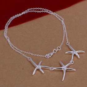 Wholesale Romantic Silver Star Necklace TGSPN680