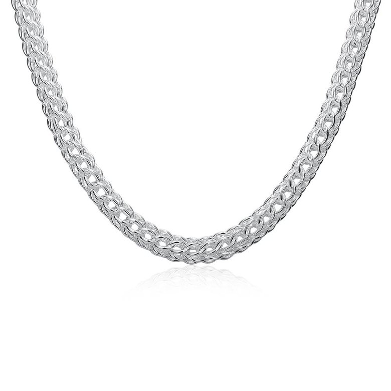 Wholesale Classic Silver Round Necklace TGSPN707