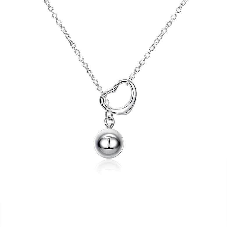 Wholesale Classic Silver Ball Necklace TGSPN736