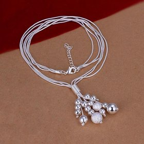 Wholesale Romantic Silver Ball Necklace TGSPN748