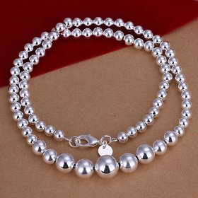 Wholesale Romantic Silver Ball Necklace TGSPN763