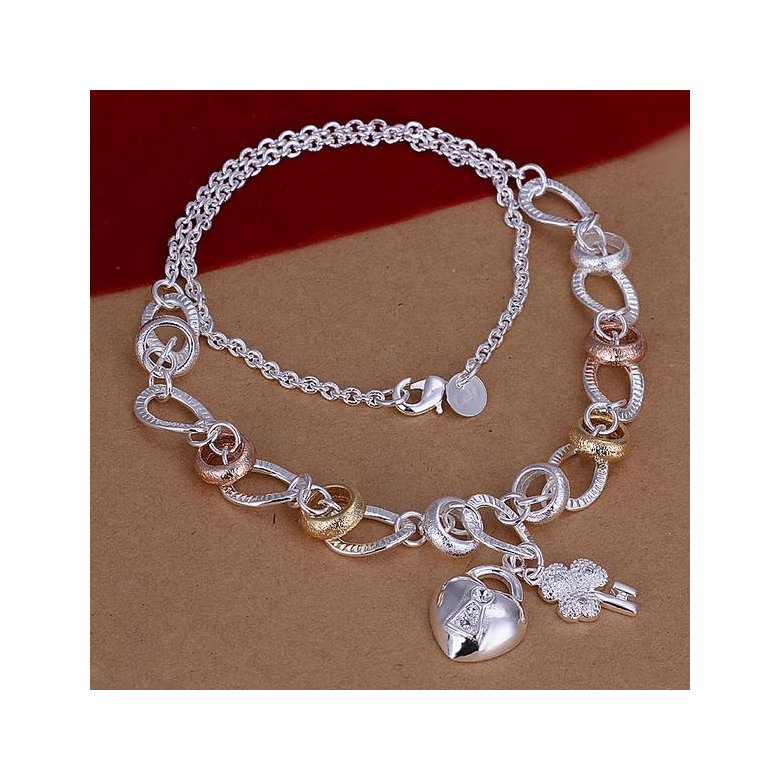 Wholesale Romantic Silver Heart Necklace TGSPN043