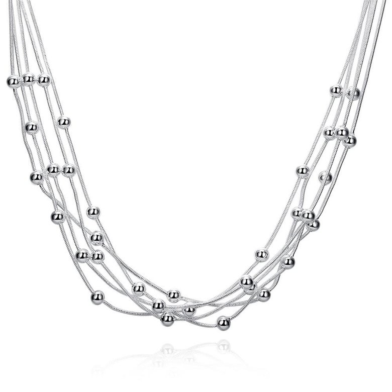 Wholesale Romantic Silver Ball Necklace TGSPN046