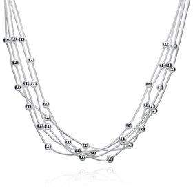 Romantic Silver Ball Necklace