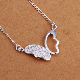 Wholesale Romantic Silver Animal CZ Necklace TGSPN181