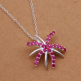 Wholesale Romantic Silver Insect CZ Necklace TGSPN239