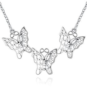 Wholesale Romantic Silver Animal Necklace TGSPN310