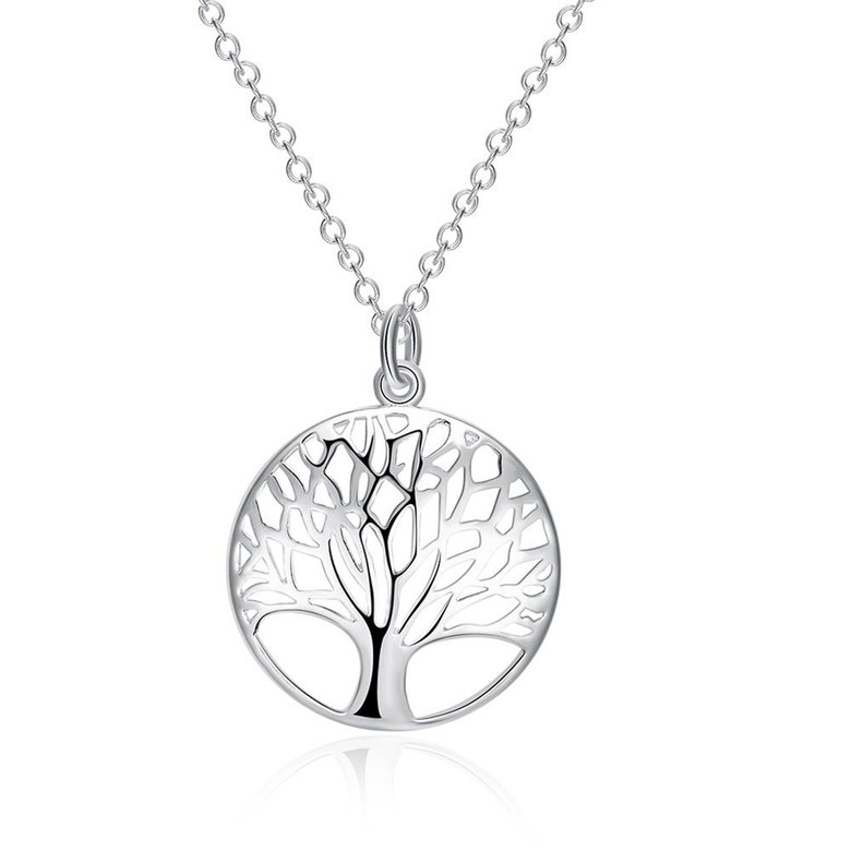 Wholesale Trendy Silver Plant Necklace TGSPN397